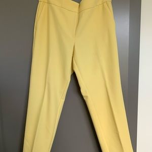 Julie fit yellow straight leg ankle pants